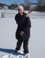 Lindy Coco used to shovel snow off the court to play in 5 degree weather—2/4/10