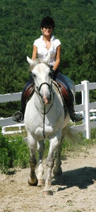 Marta Sweeney riding Tristan
