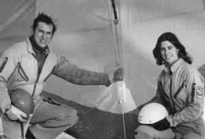 Robert and Elle Doornick introduced hang gliding—1970s