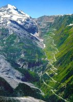 48 Switchbacks of the Stelvio Pass in Italy—One of Bill Ale's best rides on a bike—9/08