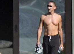 Obama abs need work