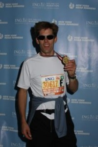 Peter Houldin after running the 2008 NYC Marathon
