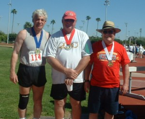 Marc Sokolik (rt) takes the Bronze medal at the 2005 Arizona Senior Olympics