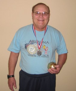 Marc Sokolik wins the silver at the 2009 Sr. Olympics in Arizona
