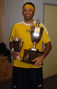 Baset Chaudhry after winning the national squash singles title—2/09