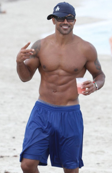 Shemar at the beach