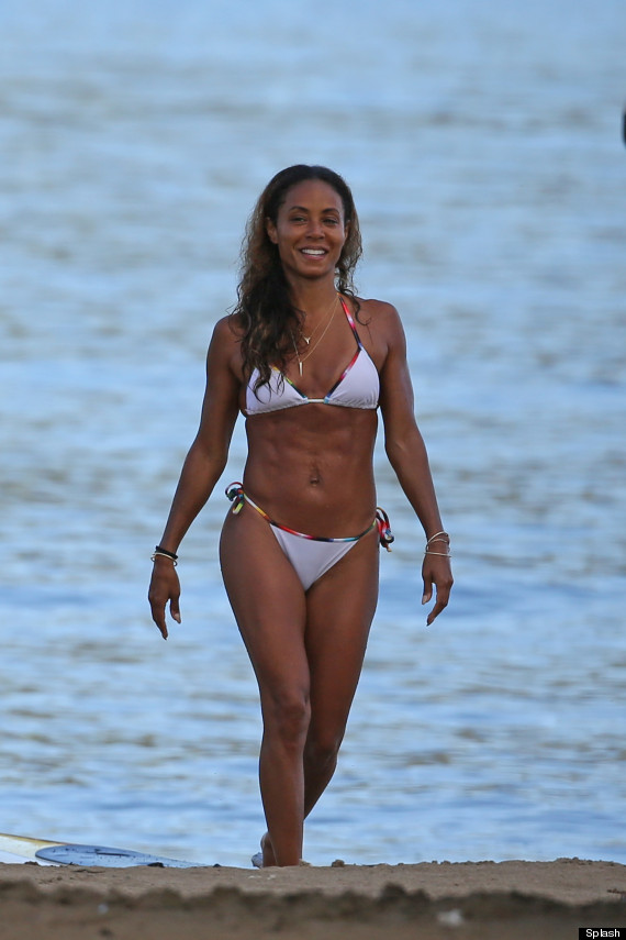 Will Smith's wife Jada has some abs