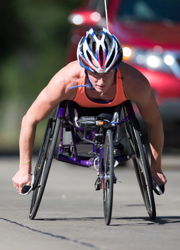 Tatyana wants the triple crown of wheelchair marathons
