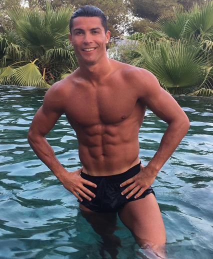 Cristiano Ronaldo's almost perfect abs