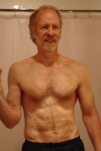 after 2 1/2 months without one crunch, gaining 5 pounds, but doing push ups 31 days—1/27/11