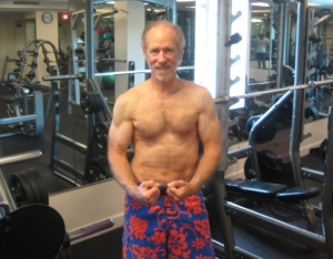 12/29/13 in Florida hotel gym.  More crunches needed