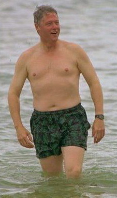bill clinton—needs to work on his abs