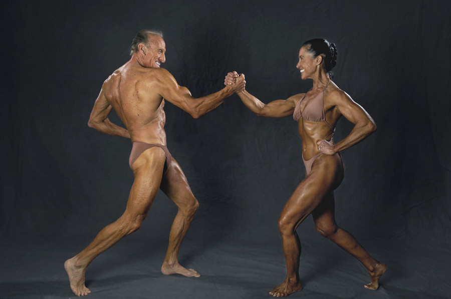 bodybuilders Bill Cunningham and Jane Hesselgesser