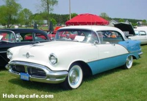 1956 Oldsmobile Super 88 Holiday 4-door coupe
