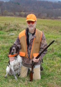 Ira, Blitz the German Shorthaired Pointer, and shotgun get the birds—11/10/09
