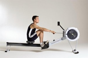 the Concept2 indoor rowing machine
