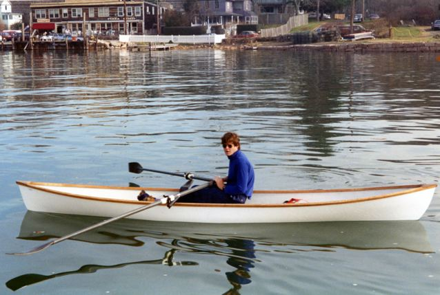 Martin in his Appledore—1995