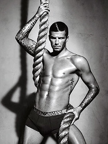 David Beckham's abs are like rope twists