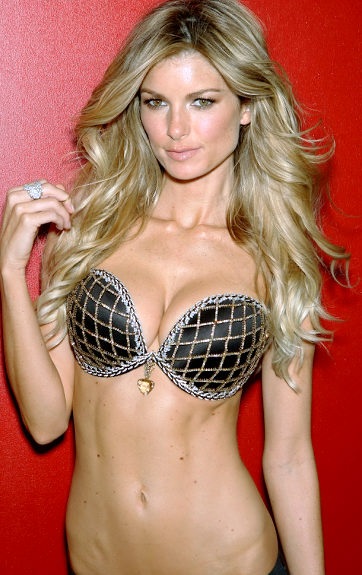 Supermodel Marisa Miller is wearing a diamond studded bra worth $3 million