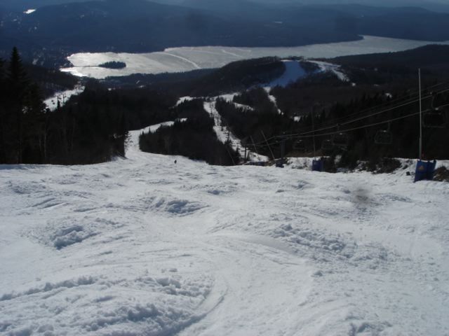 Viewing mogul trail from top of Mont Tremblant—3/18/10
