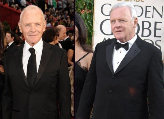 Anthony Hopkins shed 75 pounds. I'm in the gym six days a week, I power walk, live on 800 calories a day.""