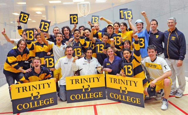Resultado de imagem para On January 18, 2012, the longest winning streak in US intercollegiate varsity sports history—252 consecutive victories—ended when Trinity College lost a squash match to Yale.