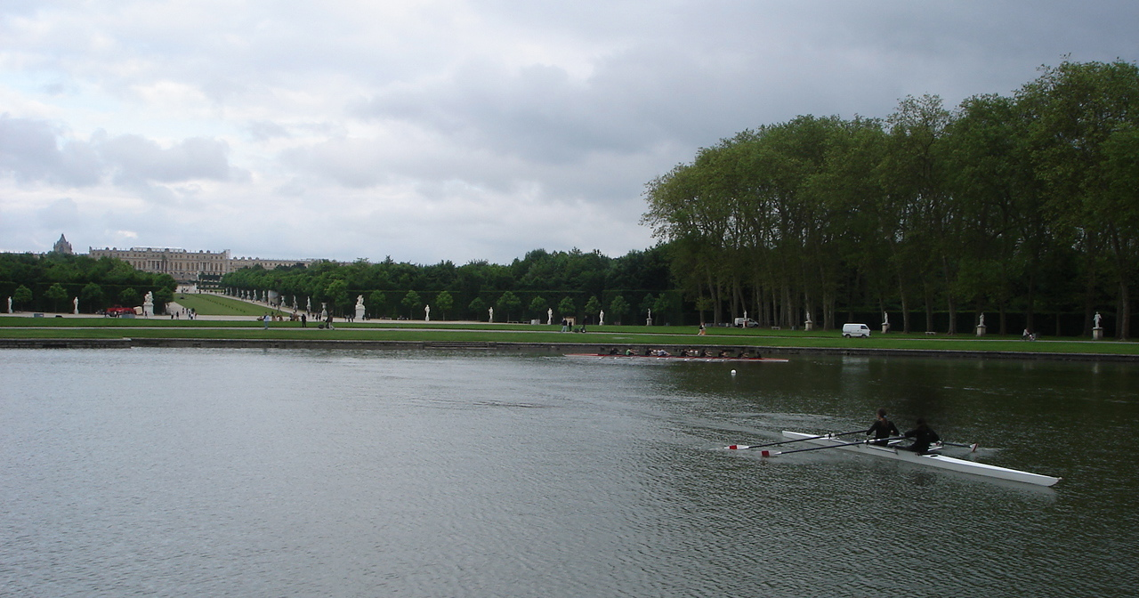 Sculling on the lake at Versailles Palace, France