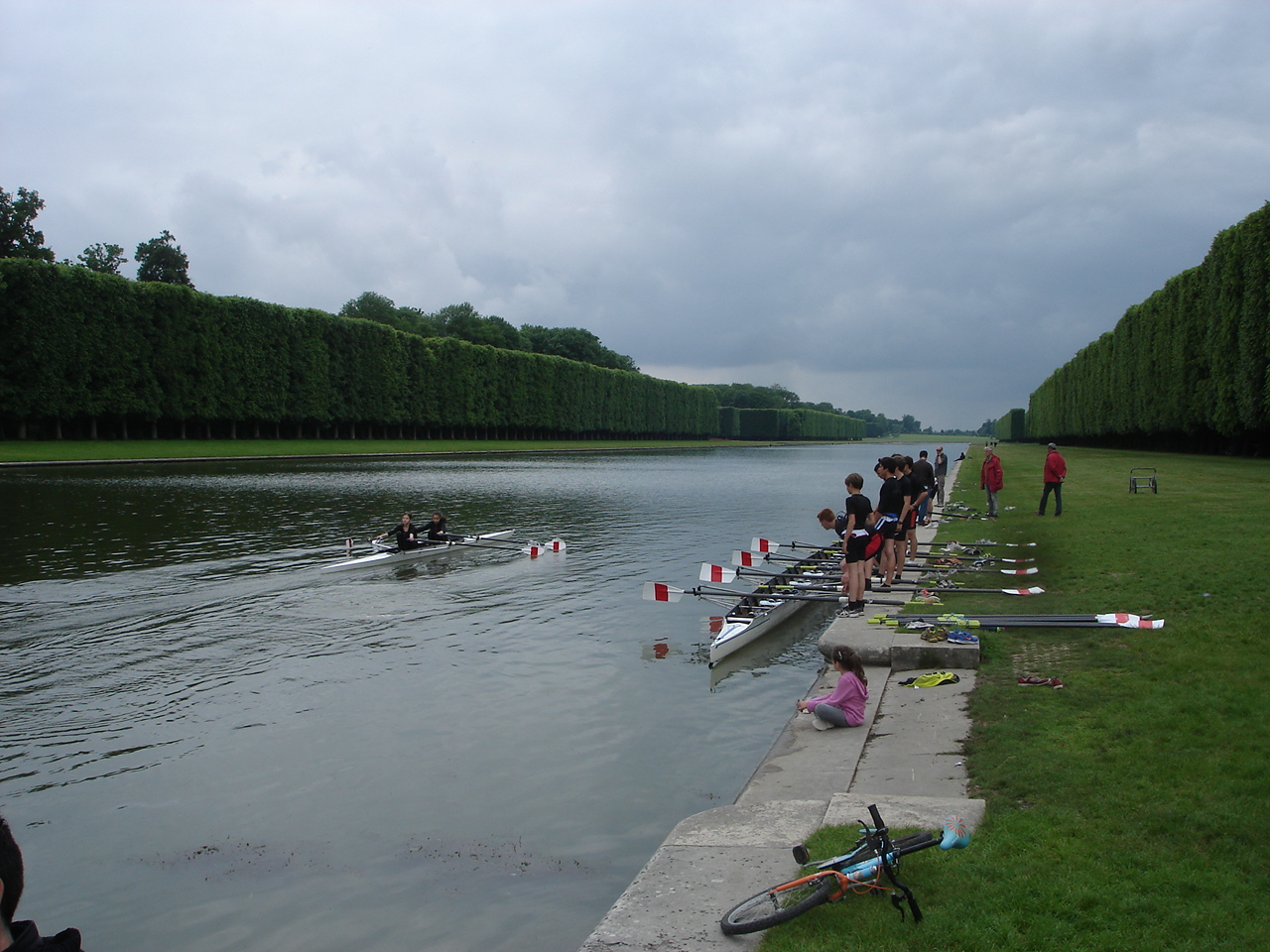 a half-mile rowing track at the gardens of Versailles