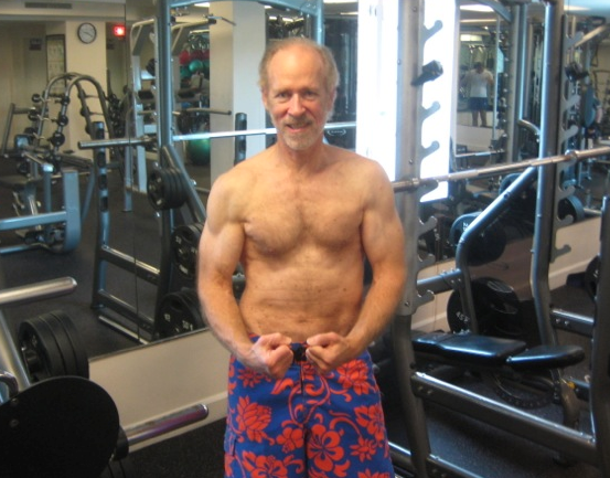 12/29/13 after 30-min Florida gym session...more abs needed