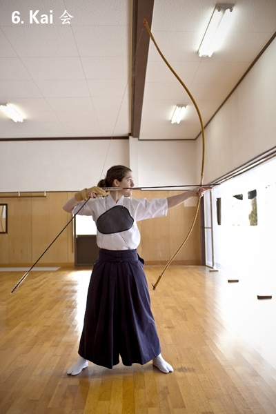 Spiritual Japanese archer with 6.5 foot bow